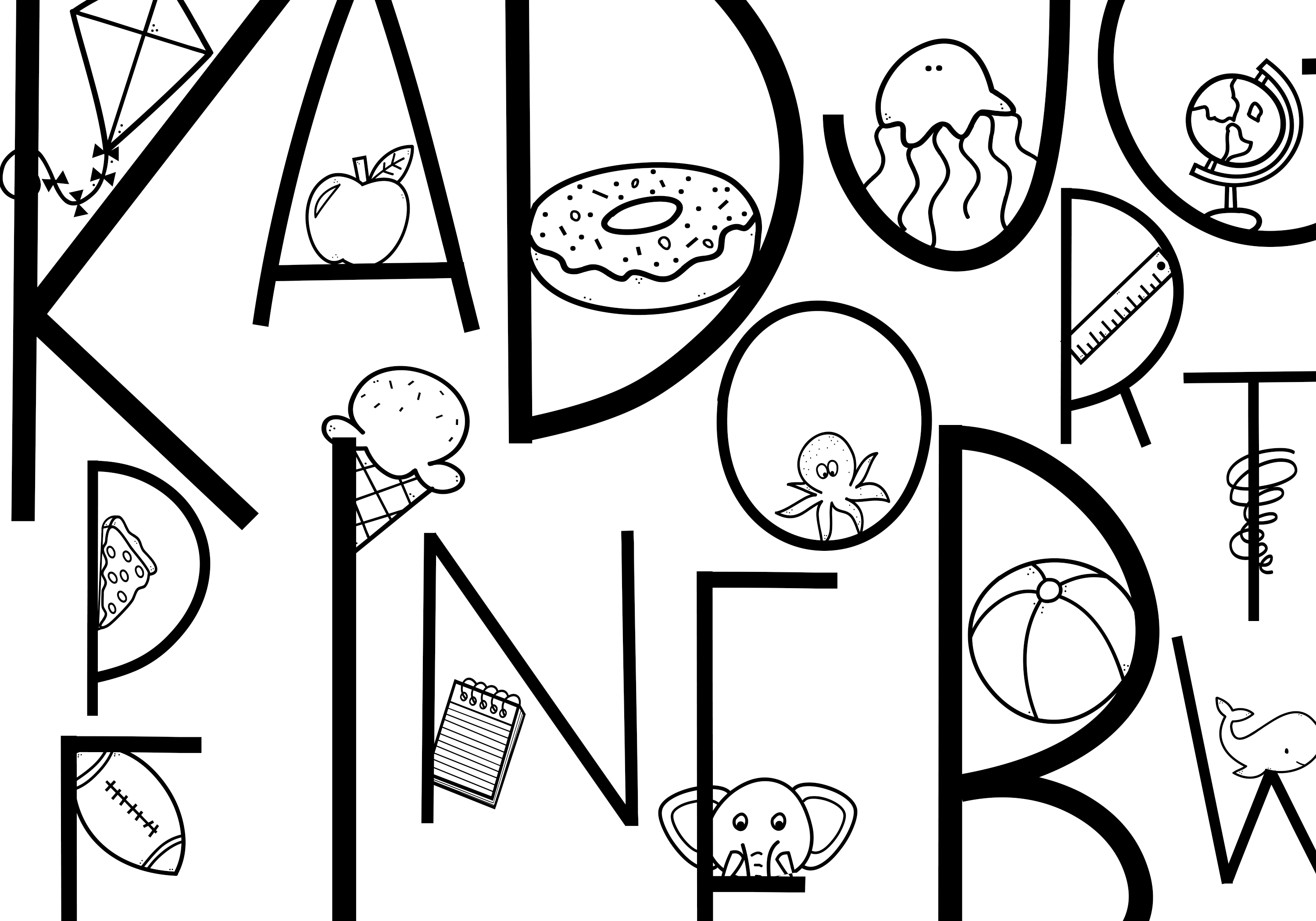 All The Thangs - A Handmade Letter & Doodle Font - Teaching example image 2