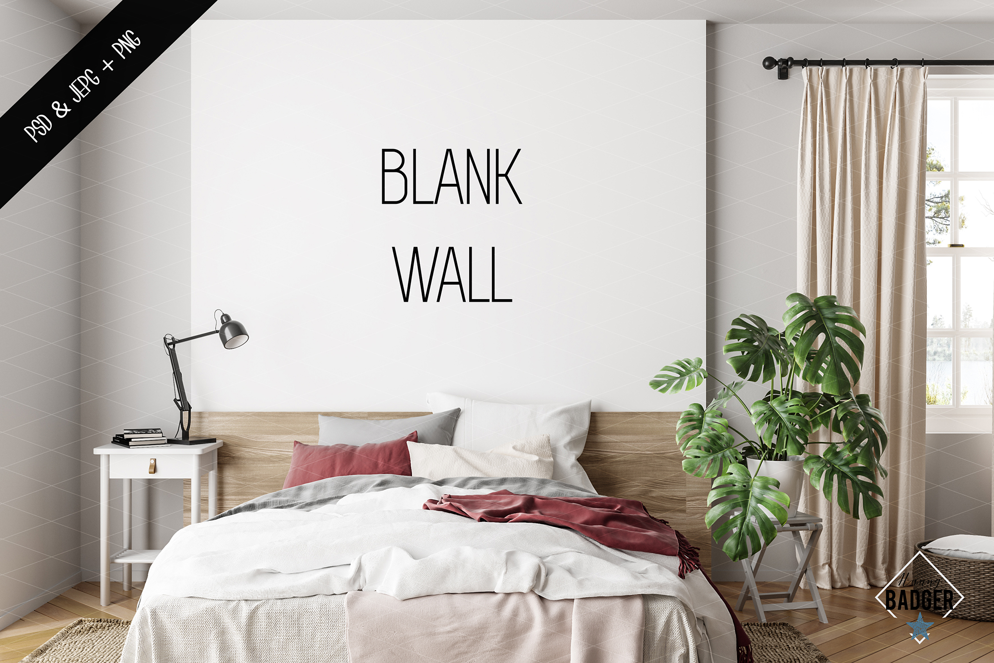 Wall mockup - Wallpaper mockup example image 6