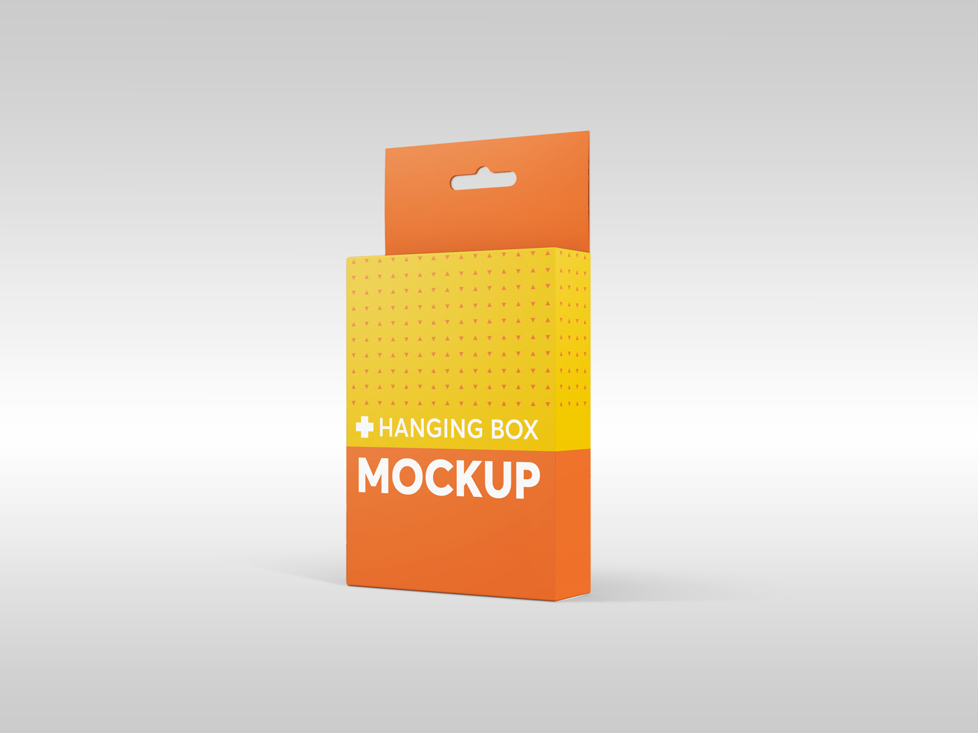 Flat Rectangle Box with Hanger Mockup example image 8