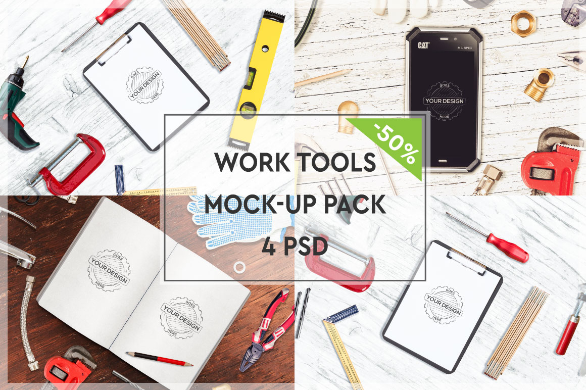Work Tools Mock-up Pack #2 example image 1