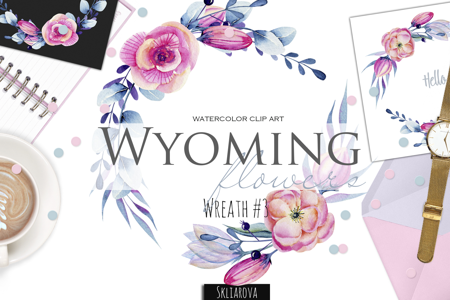 Wyoming flowers. Wreath #3 example image 1