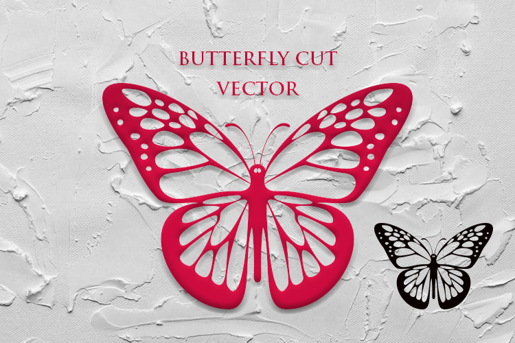 BUTTERFLY VECTOR CUT 01 example image 1