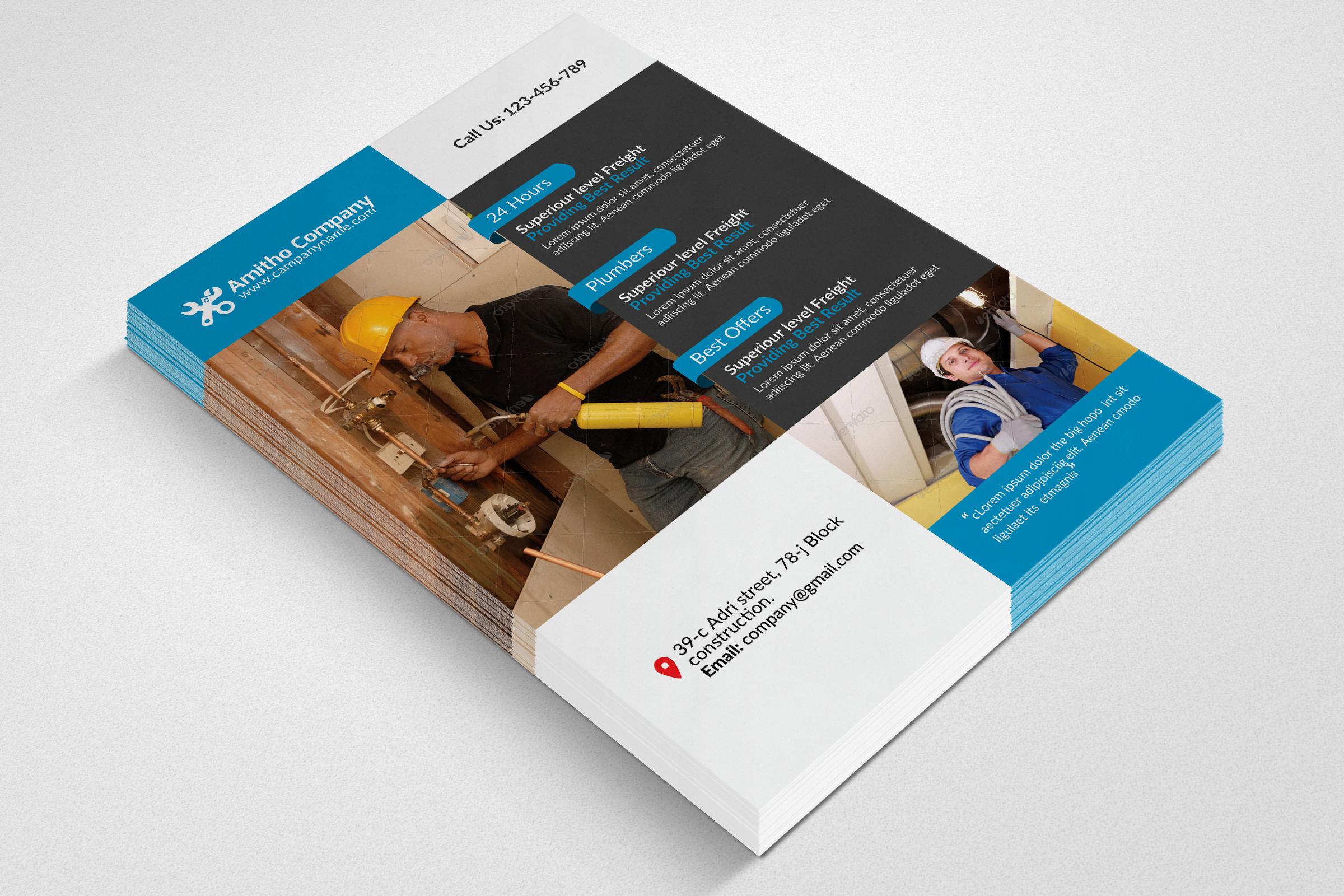 Handyman & Plumber Service Flyer example image 2