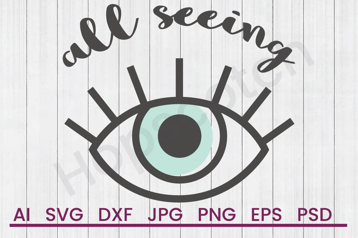 Eyeball SVG, All Seeing SVG, DXF File, Cuttatable File example image 1