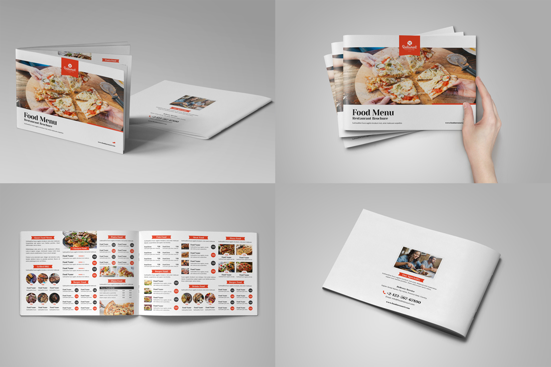 Food Menu Restaurant Brochure Bundle example image 5