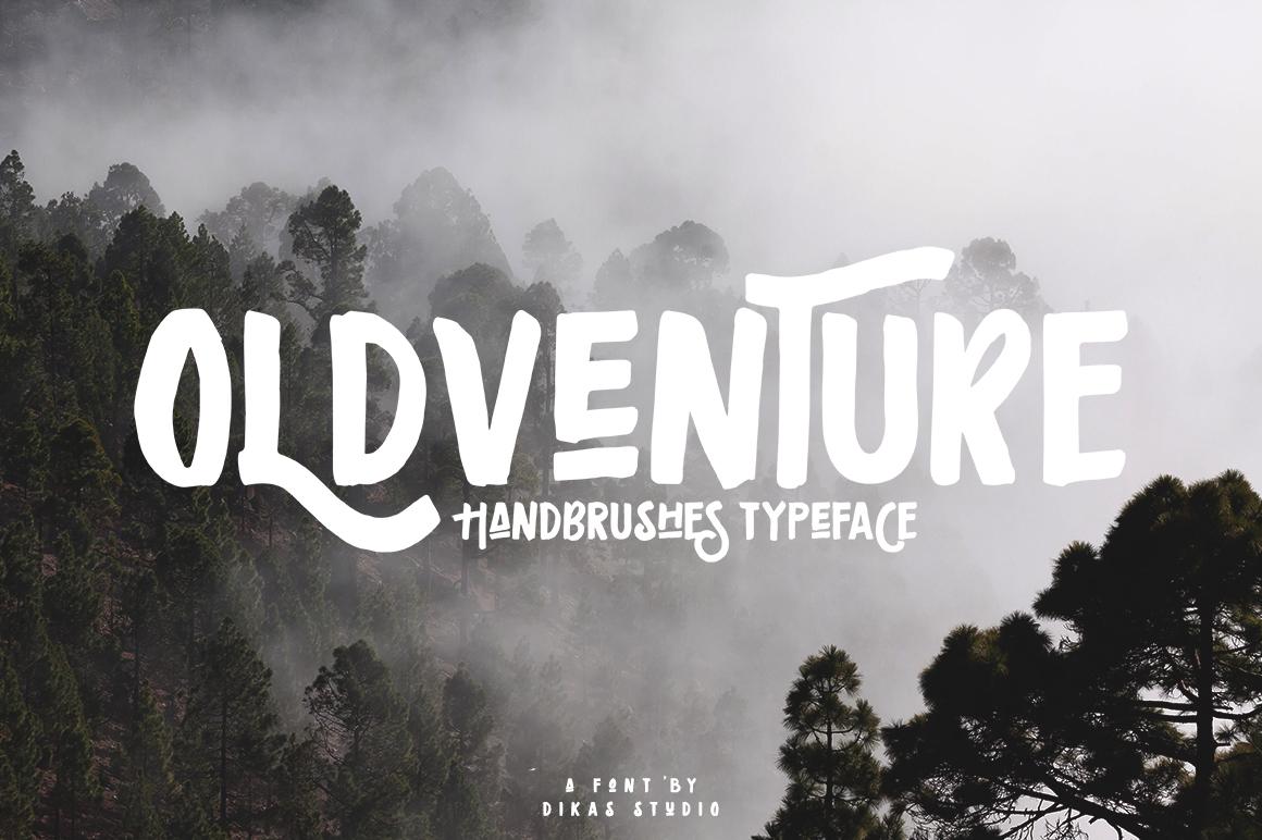 Oldventure - Handbrushes Typeface example image 5