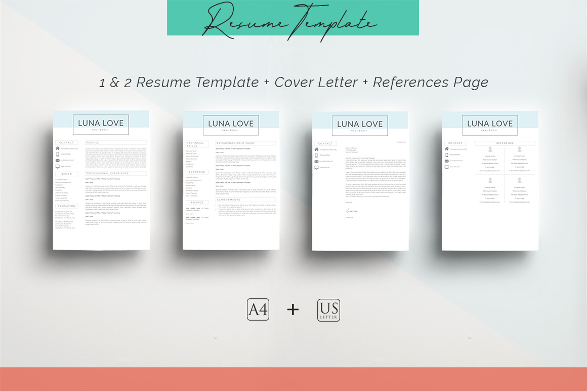 ULTIMATE BUNDLE Resume Template 10 in 1 example image 10