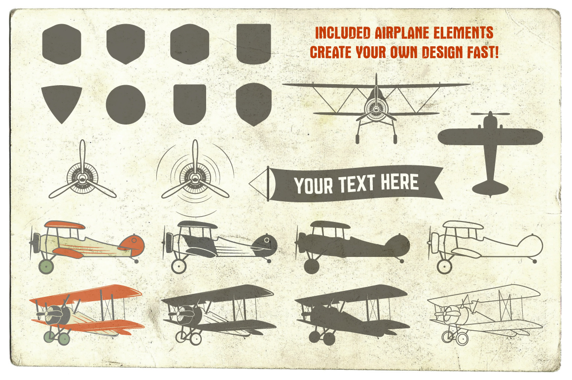 Airplane Badges & Design Elements example image 3