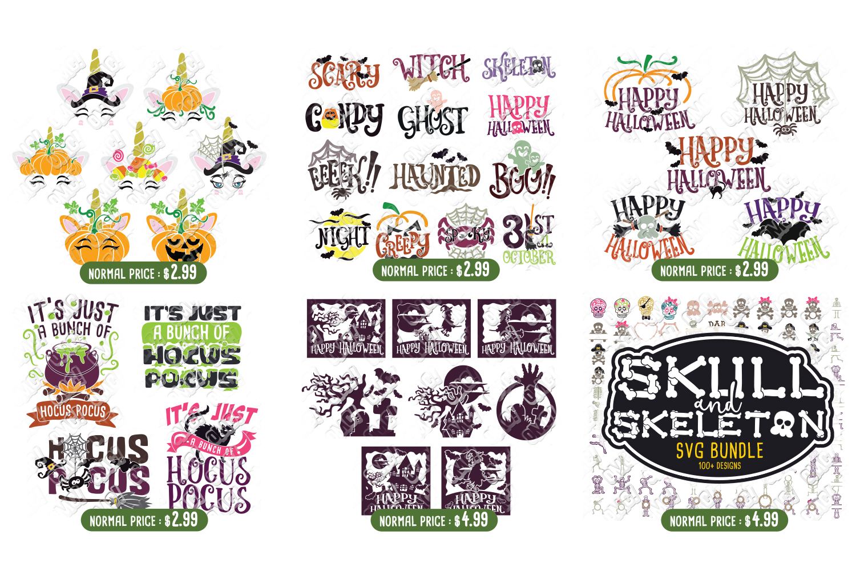 Ultimate Halloween SVG Bundle Vol. 1 & Vol. 2 in SVG & DXF example image 6