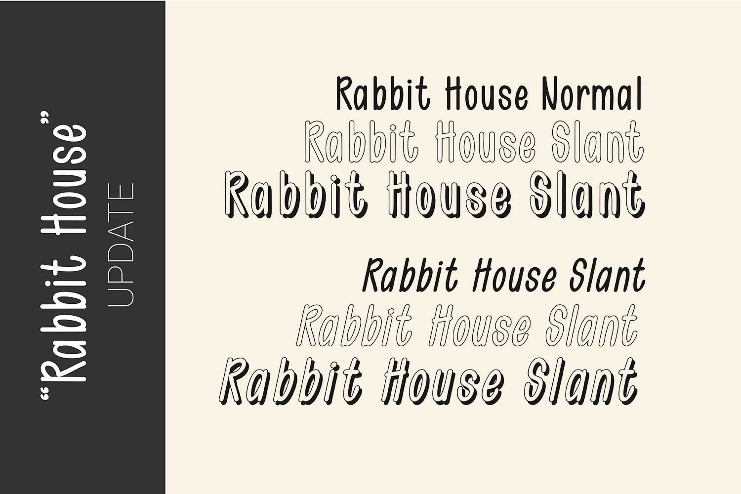 Rabbit House Funky Font Set example image 3