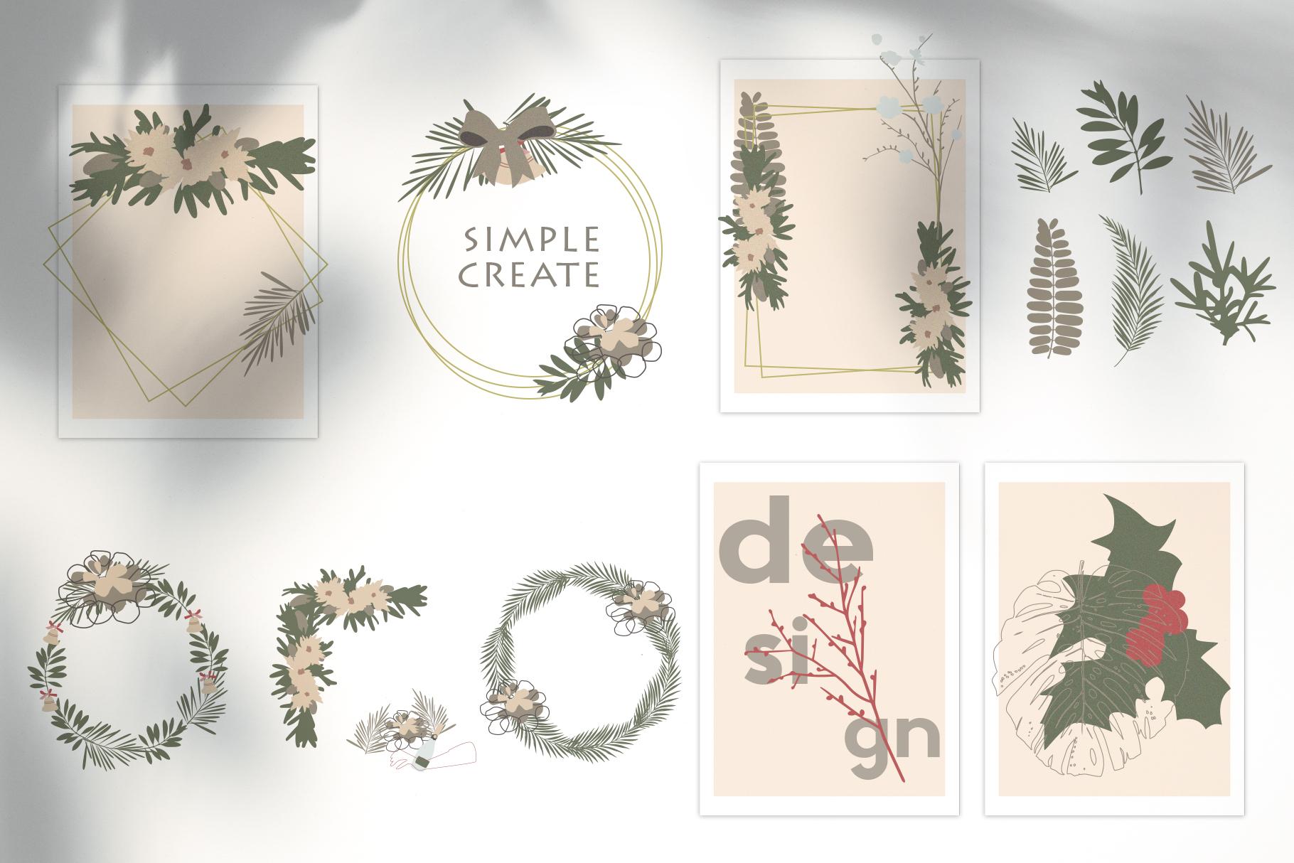 Christmas Secret Modern Graphic Set example image 6