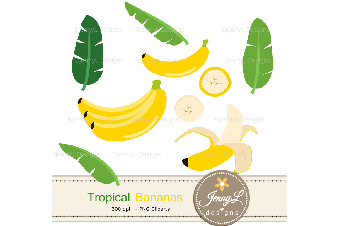Banana Digital Papers And Clipart
