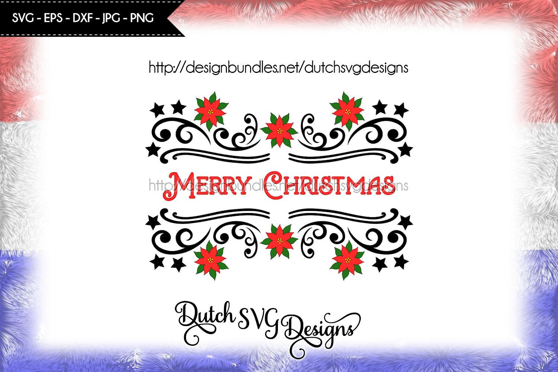 2 Split name cutting files, christmas svg, monogram svg example image 5