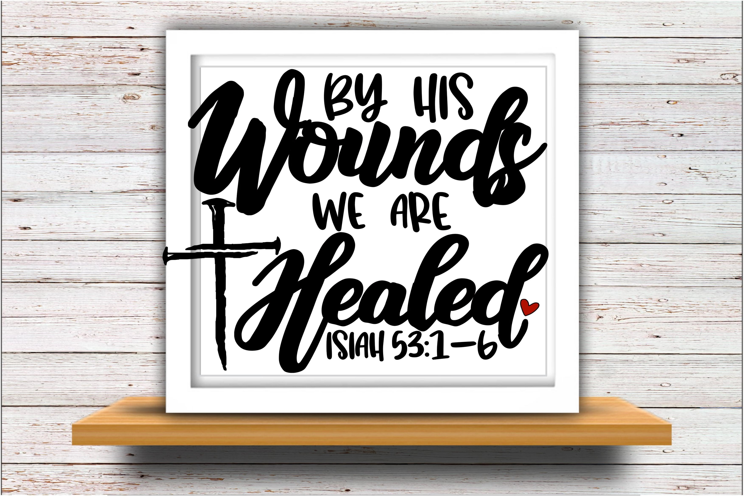 Faith svg DXF JPEG Silhouette Cameo Cricut Easter svg Wounds example image 2