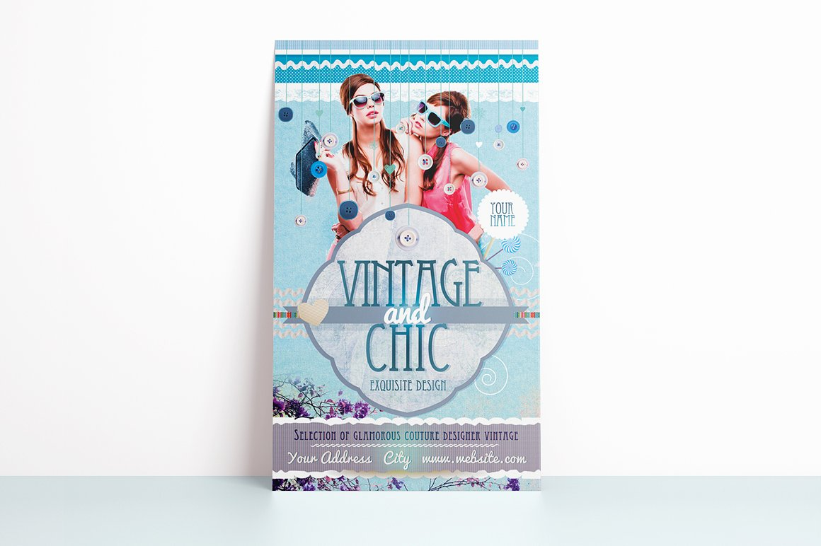Vintage and Chic Flyer Template example image 2