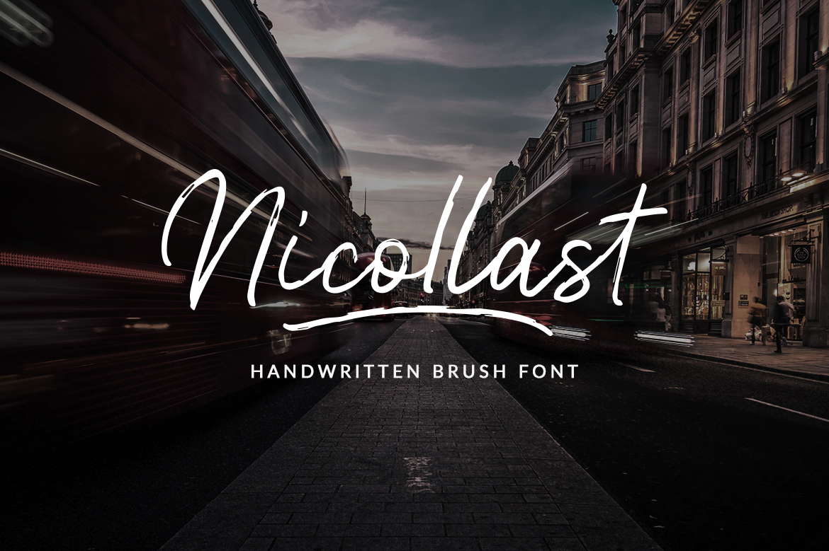 Nicollast Handwritten Brush Font example image 1