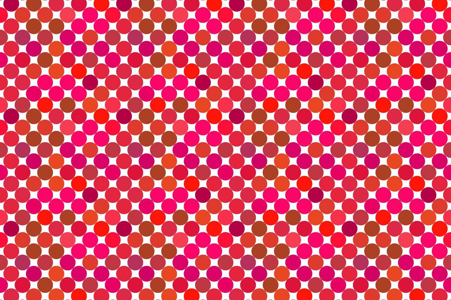 24 Seamless Red Dot Patterns example image 6