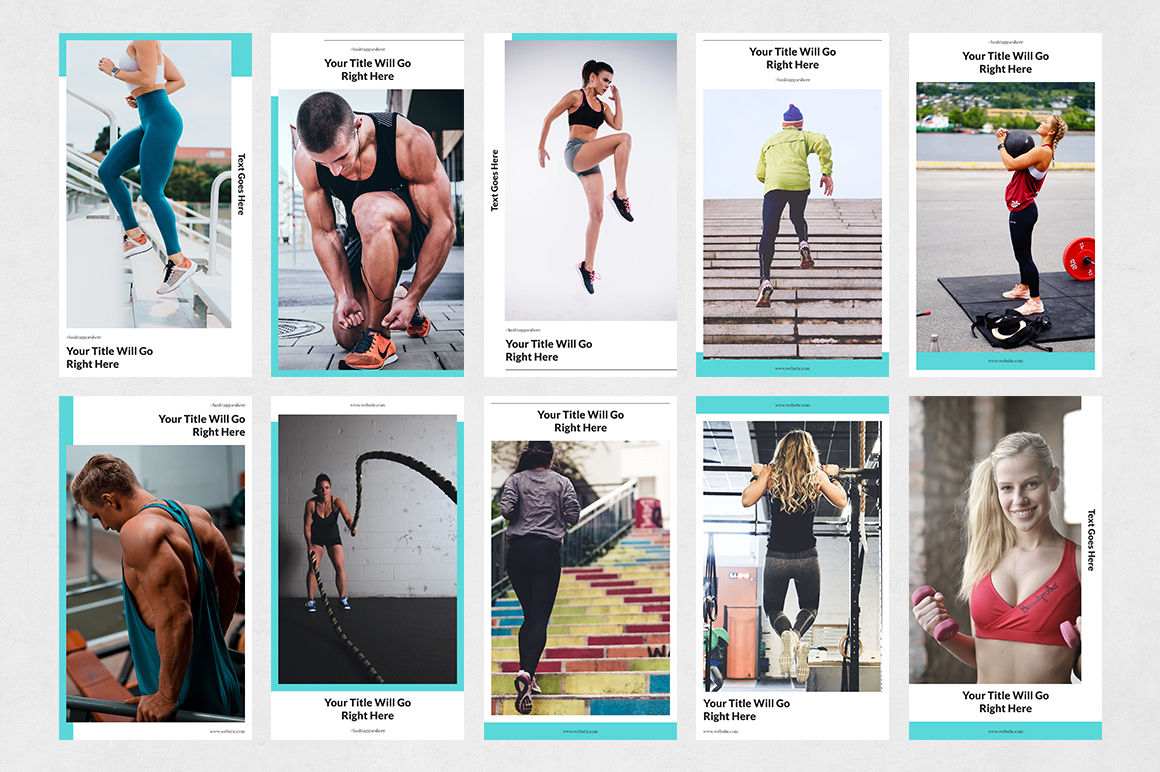 Fitness Animated Instagram Stories example image 7