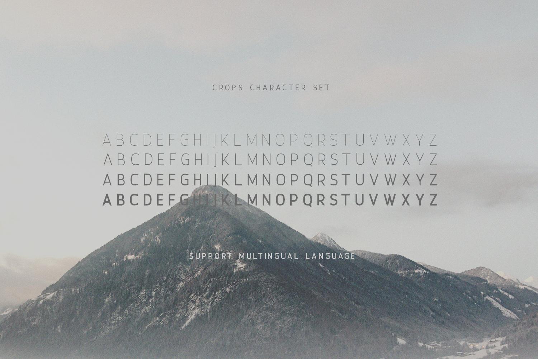 Crops - A Clean Sans Serif example image 5
