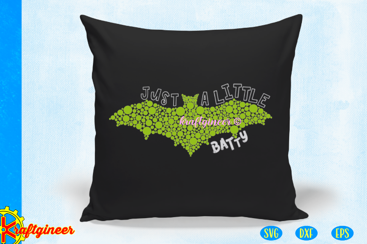 Halloween SVG - Just a Little Batty CUT FILE, DXF, EPS example image 3