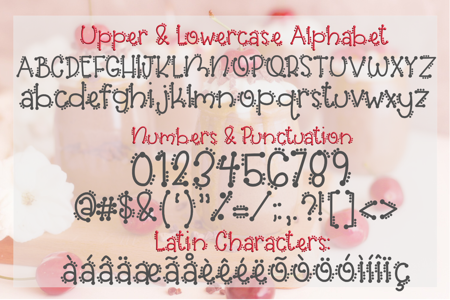 Cherry on Top - A Font Trio with Doodles example image 3