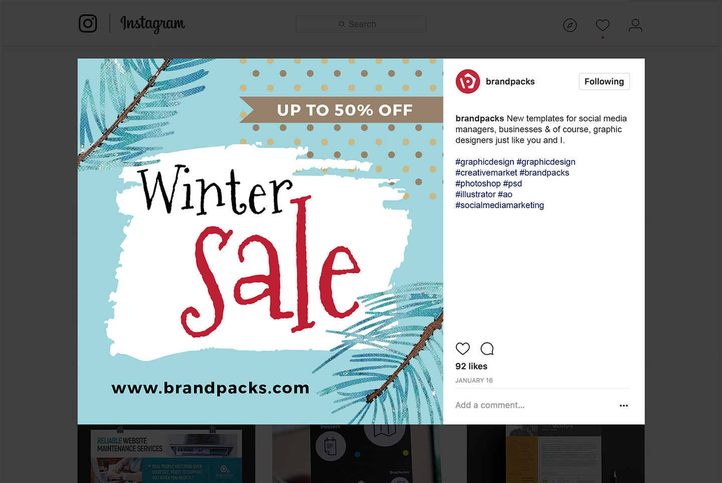 Winter Social Media Templates example image 10