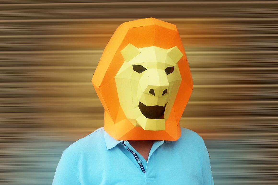 DIY Mask pack - 3d papercraft example image 3