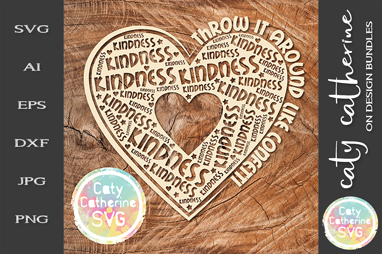 Kindness Throw It Around LiKe Confetti SVG Cut File example image 1
