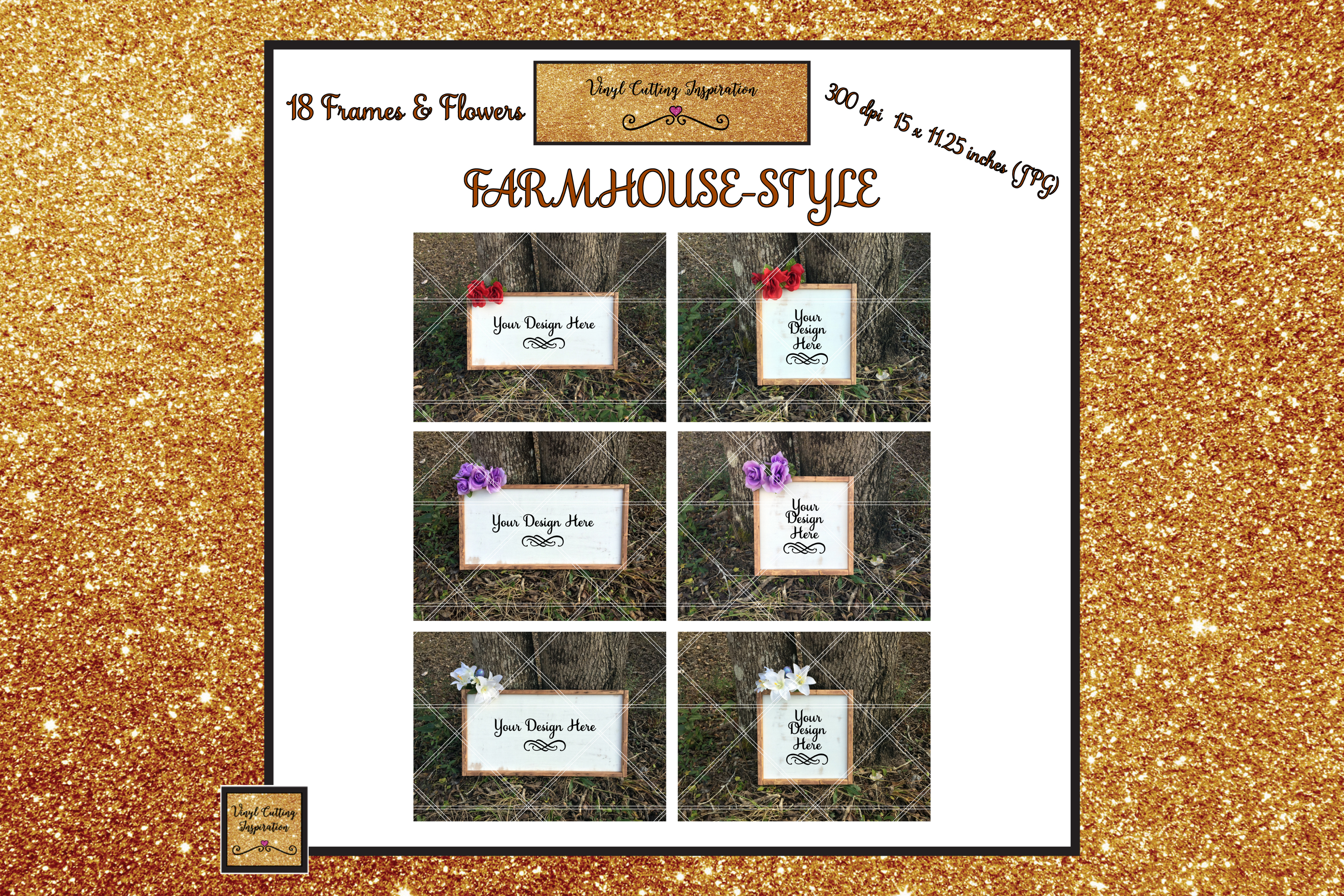 Wood Sign Mock ups Farmhouse Bundle Wood Frame Mockups JPG example image 5