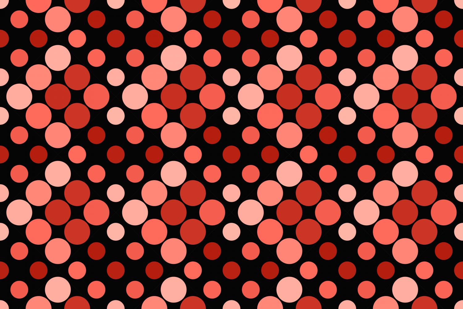 24 Seamless Red Dot Patterns example image 17