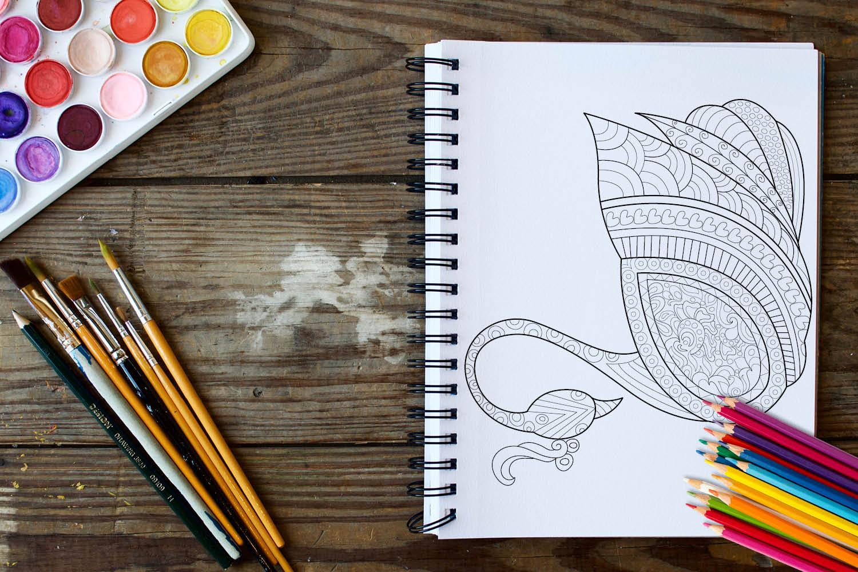 Birds Coloring Book - 30 Unique Birds Designs example image 4