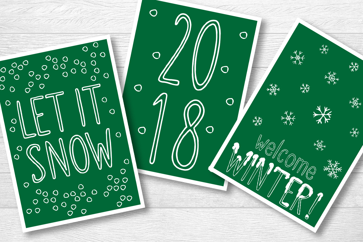 SNOWLAND - hand drawn winter font example image 5