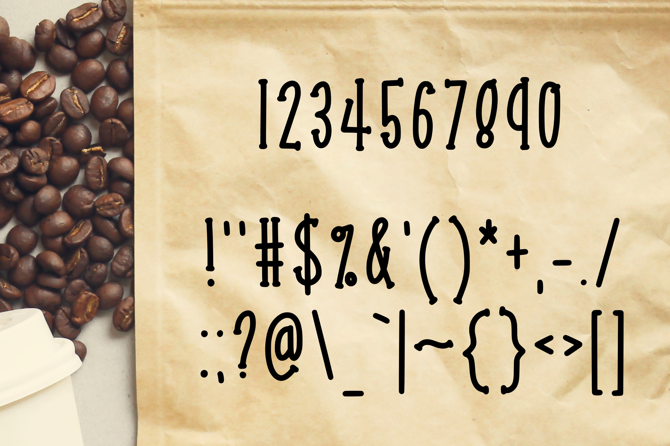Coffee Beans an Express-o Font example image 3
