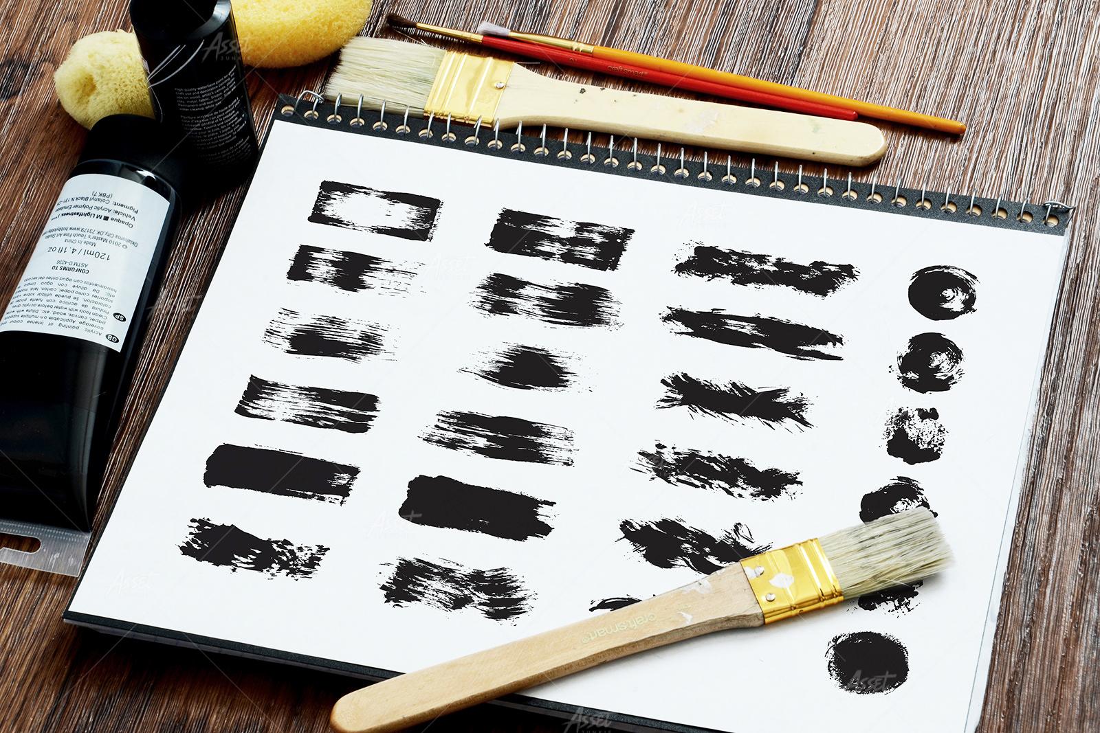 Fat Grunge – Illustrator Brush Pack example image 2