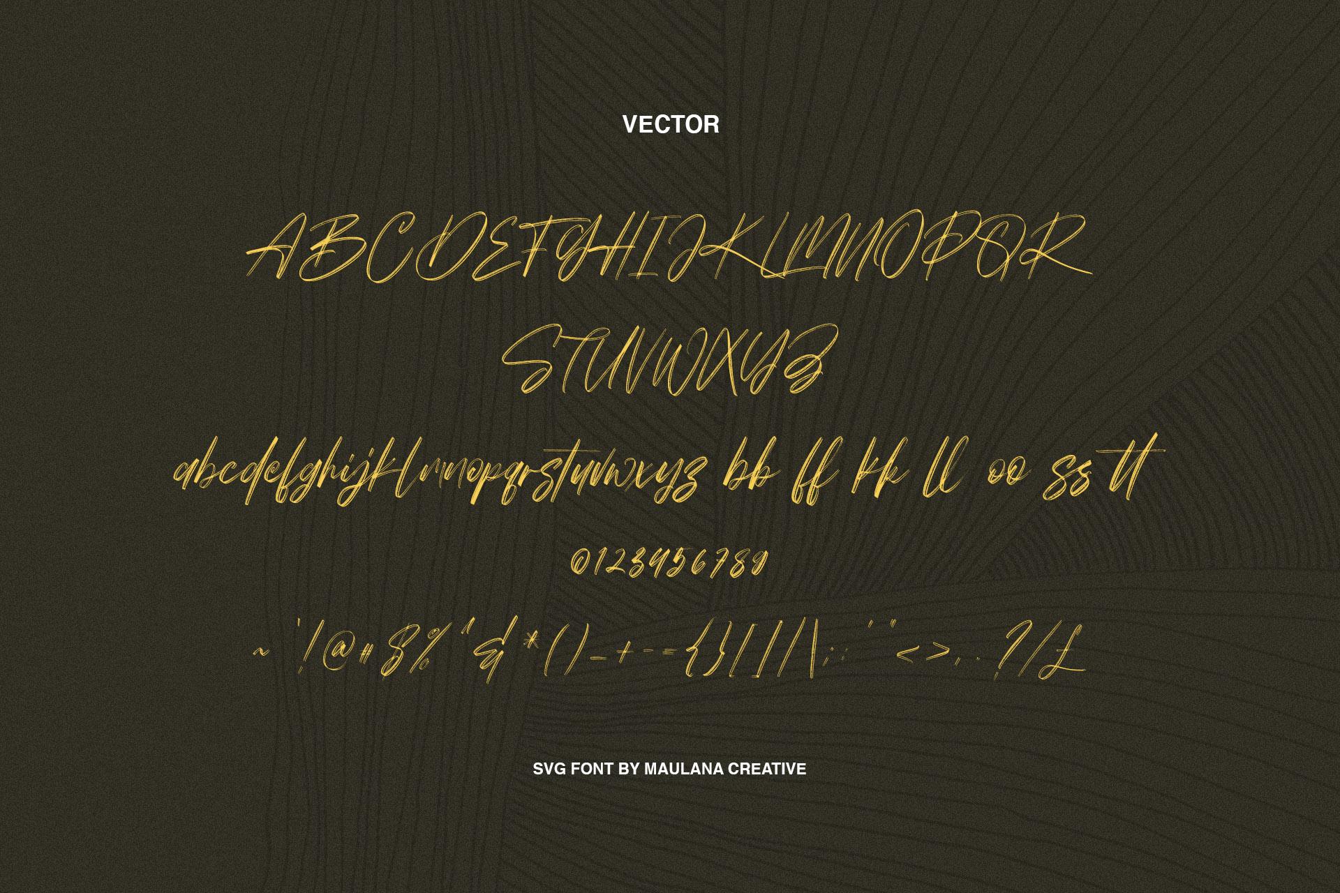 Worthness SVG Brush Font Free Sans example image 7