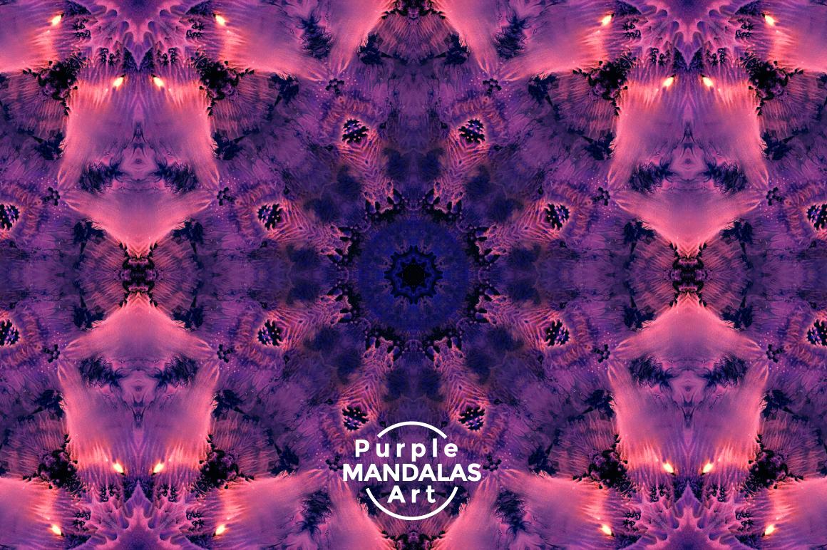 Purple MANDALAS Art example image 11