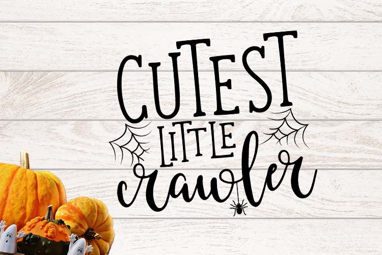 Cutest little crawler Halloween SVG example image 1
