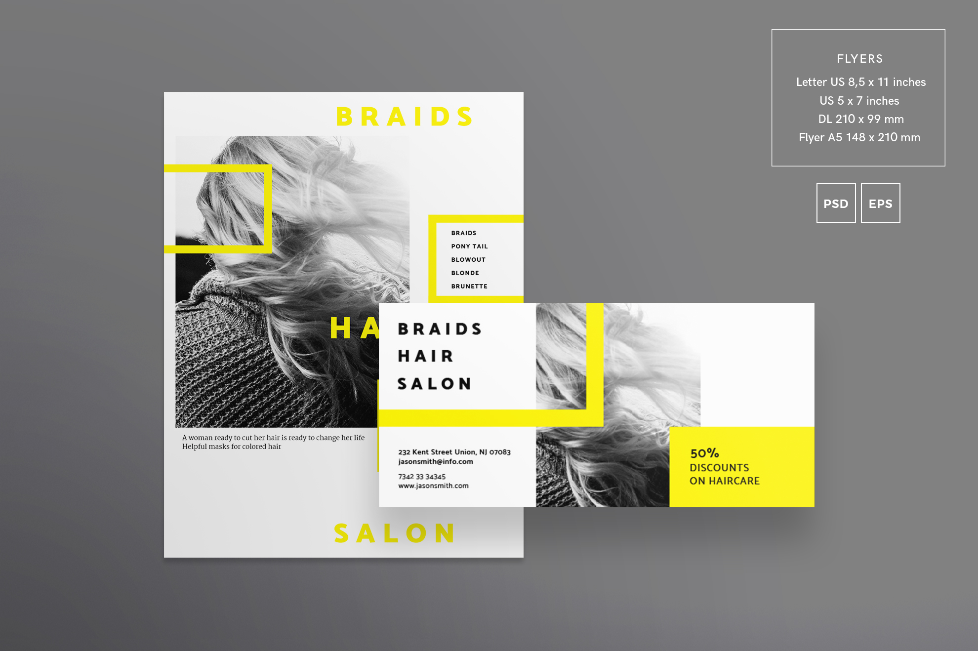 Hair Salon Barbershop Design Templates Bundle example image 8