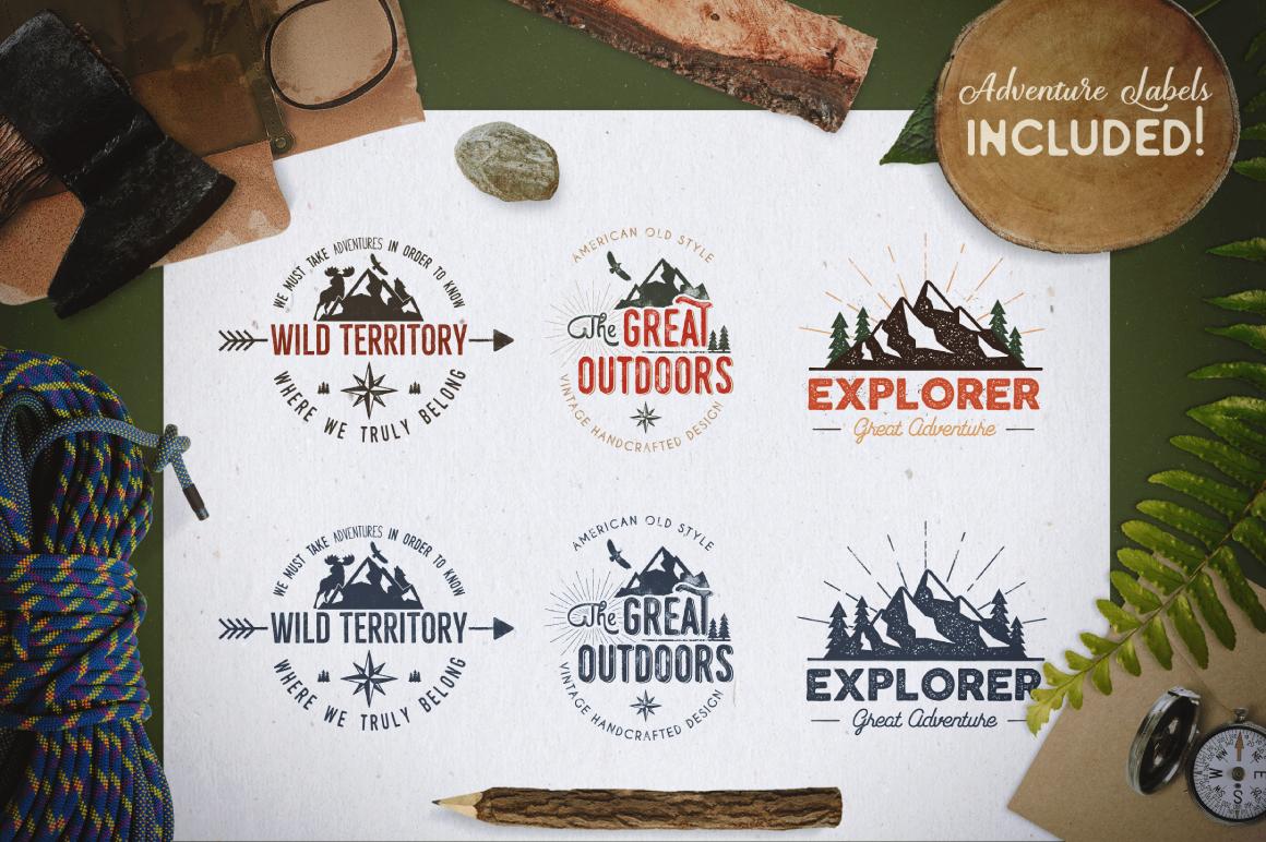 Mountain Shapes Bundle & Labels example image 2