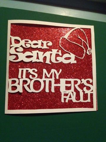 2 x 'Dear Santa it's my brother/sisters fault' templates example image 2
