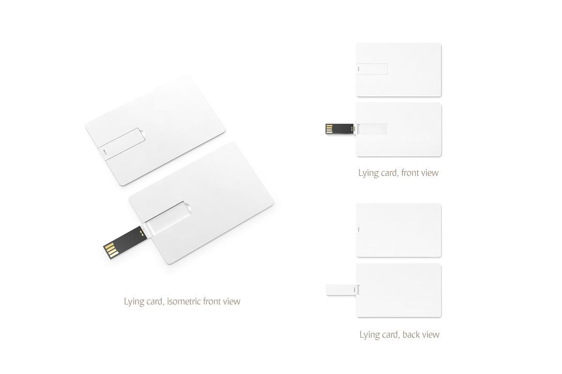 Wafer USB Wallet Card Mockup example image 5