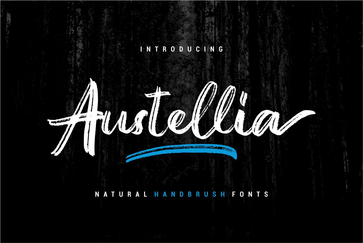 Austellia - Handbrush Font example image 1