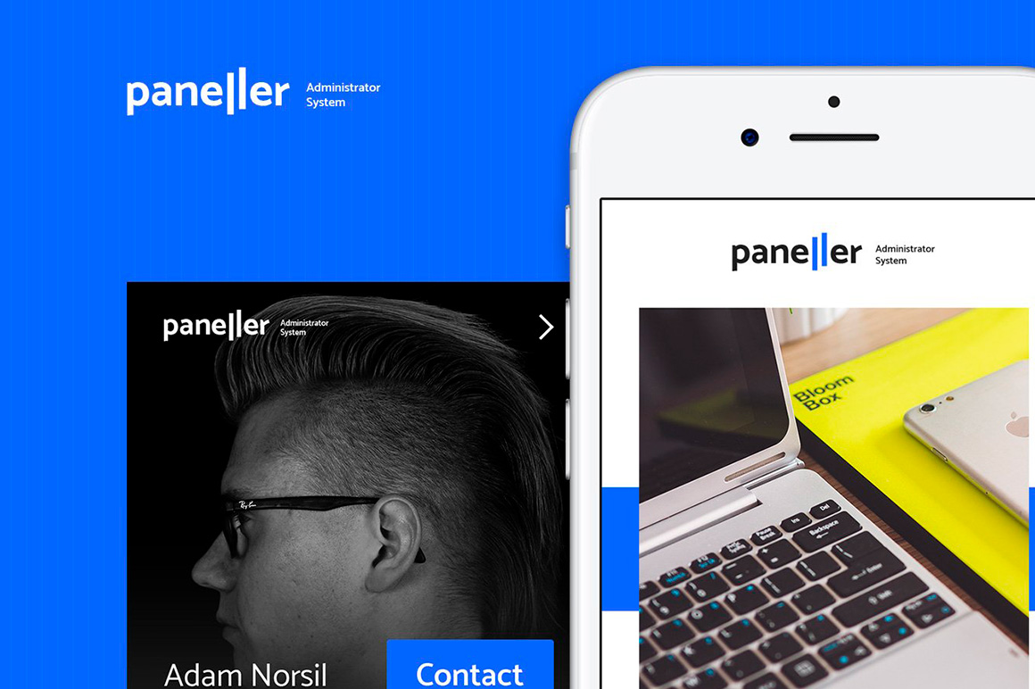 Paneller Admin Dashboard iOS UI Kit example image 2