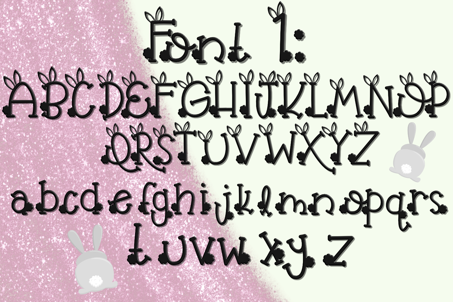 Bunny Butt Font Duo example image 2
