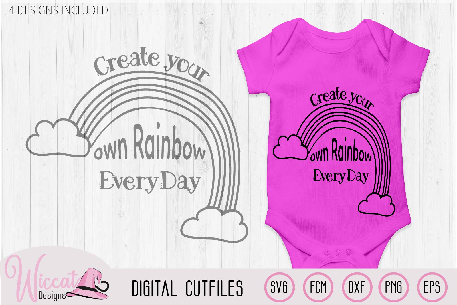 Make your own rainbow quote svg, kawaii rainbow, Kids design example image 2