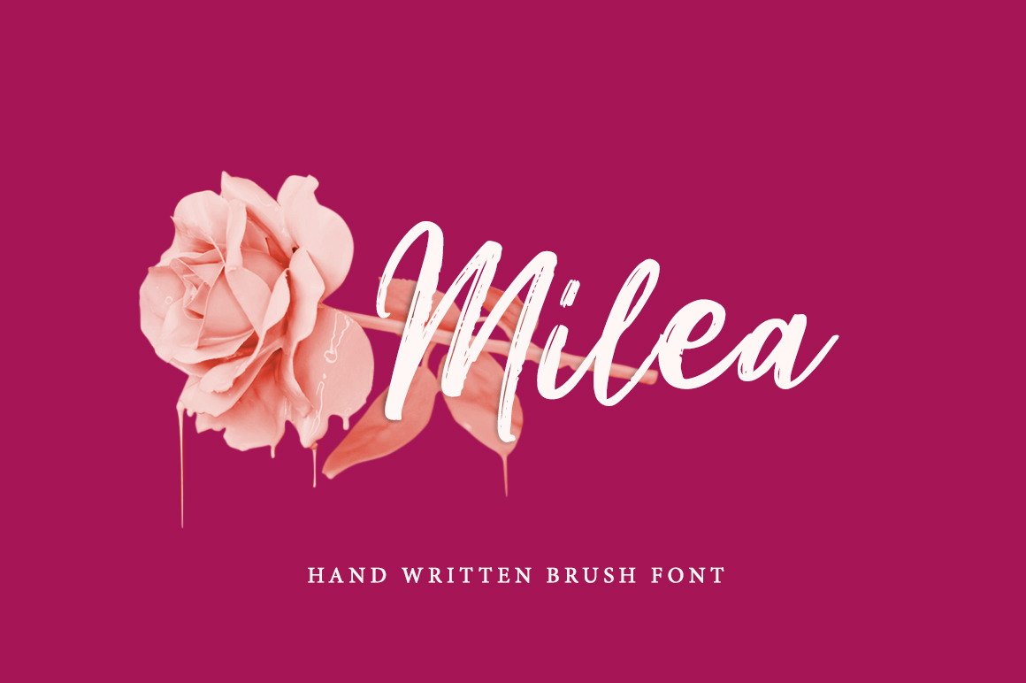 Milea - Hand Brush Script example image 1
