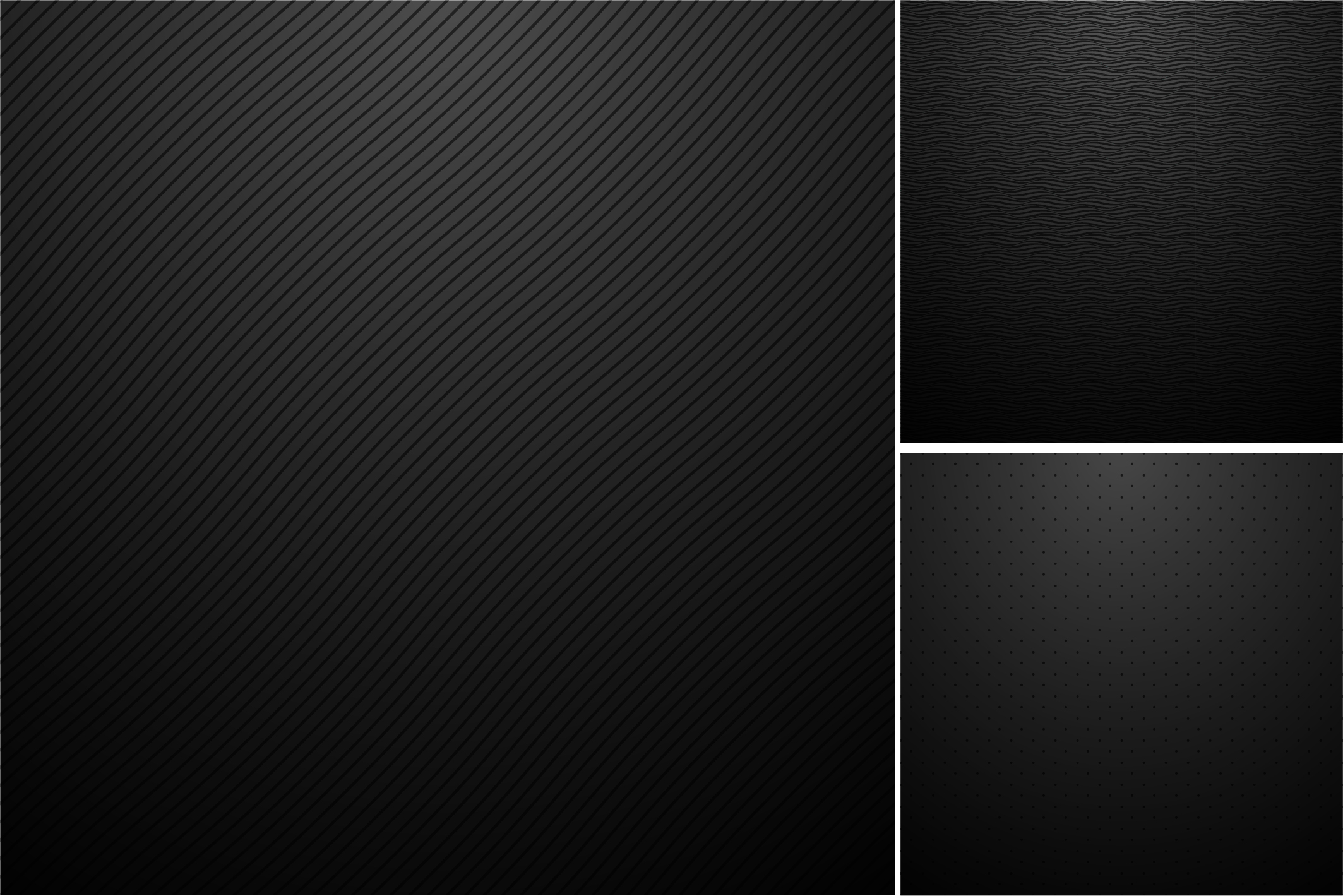 Black backgrounds. Striped textures. example image 2