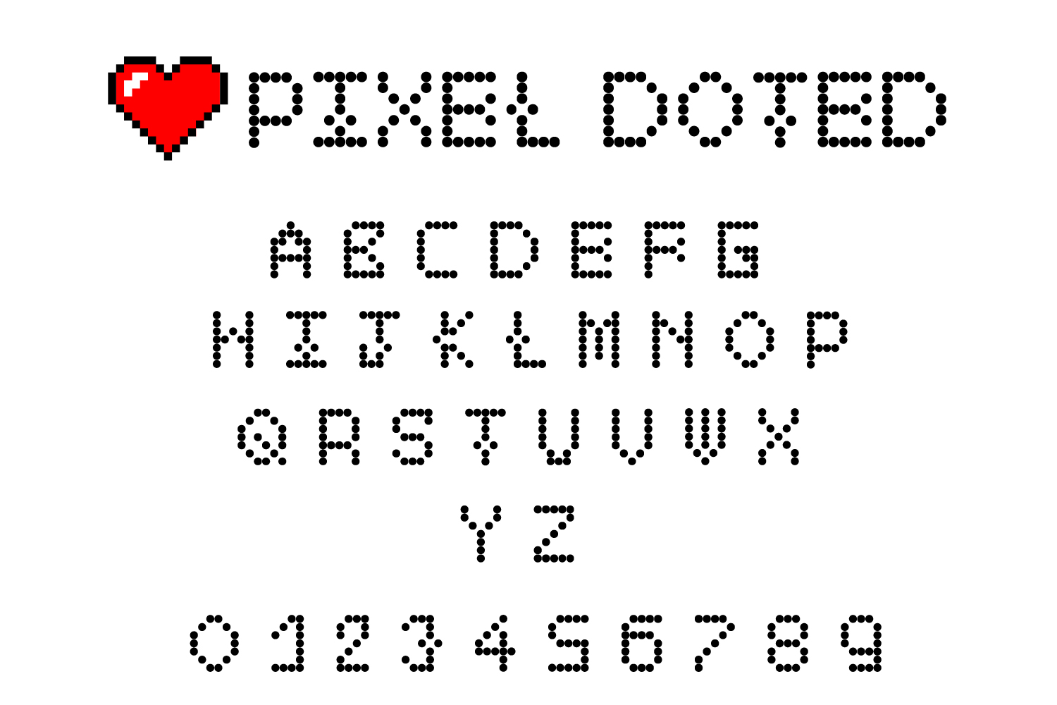 Pixel - 2X 16-Bit Gaming and Doted Font example image 2