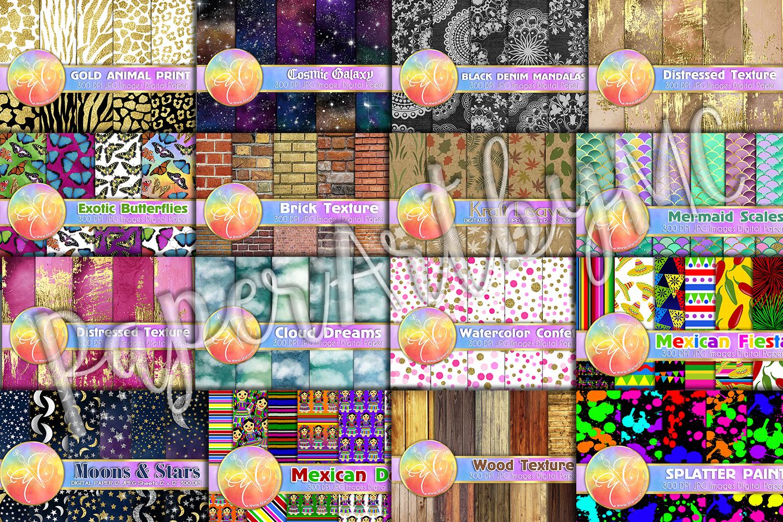 BUNDLE Digital Paper, Set of 16 Themes, Digital Background example image 2