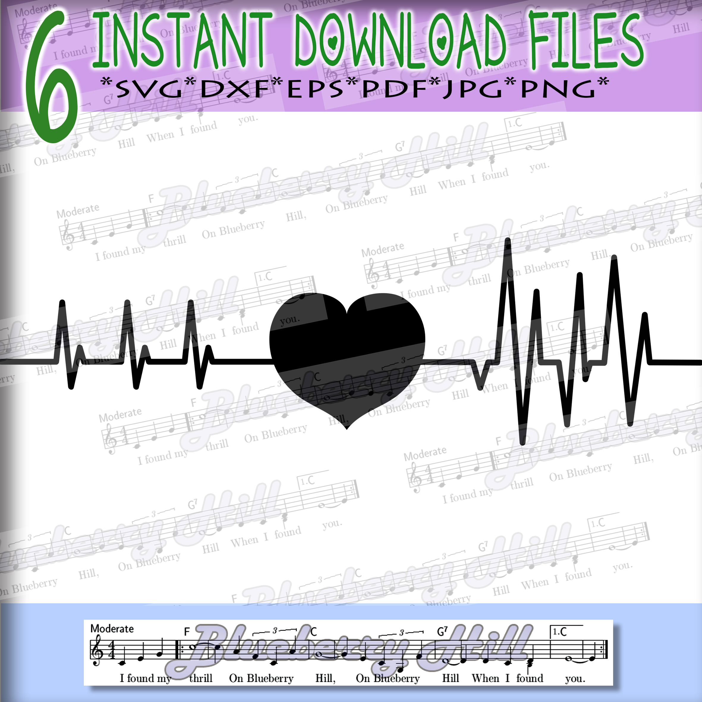 Heartbeat Svg - Valentine's day SVG - Love Heart Svg - Heart example image 2